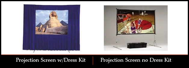 Fast Fold Projection Screen Rentals